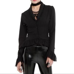Penny dreadful Victorian jacket blazer lace goth M